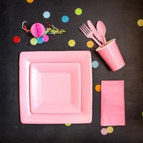 Carnation Pink Utensil Set available at Shop Sweet Lulu