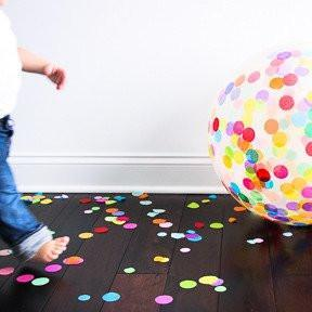 Jumbo Round Confetti Balloon: Multicolor available at Shop Sweet Lulu
