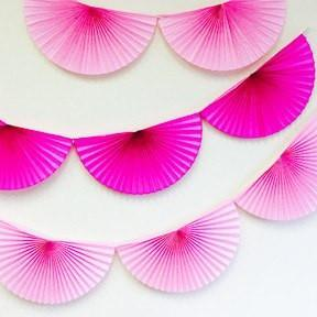 Large Tissue Bunting Garland, Party Pink available at Shop Sweet Lulu