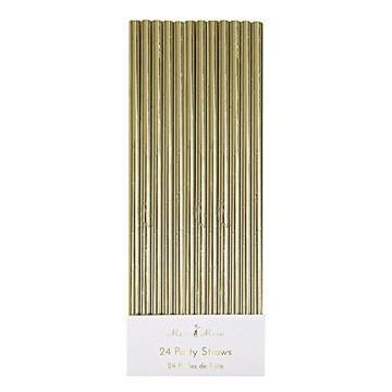 Gold Foil Party Straws available at Shop Sweet Lulu