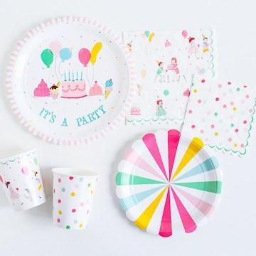 'It's a Party' Small Dotty Napkins available at Shop Sweet Lulu