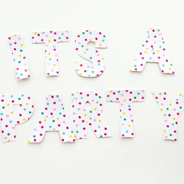 'It's a Party' Garland available at Shop Sweet Lulu