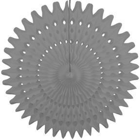 "Baby Gray 21"" Honeycomb Fan - Shop Sweet Lulu"