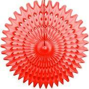 "Candy Apple Red 21"" Honeycomb Fan"