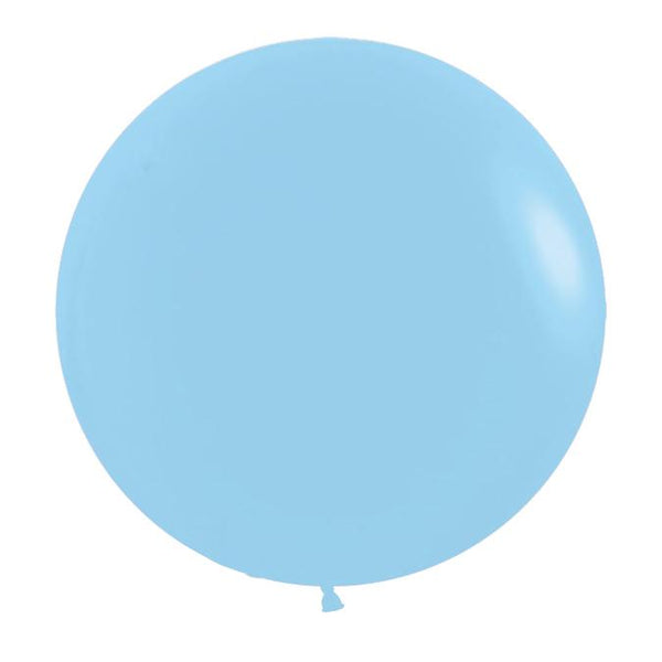 "24"" Latex Balloon, Pastel Matte Blue"