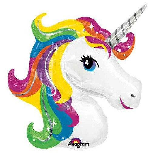 "33"" Mylar Rainbow Unicorn Balloon available at Shop Sweet Lulu"