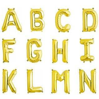 "32.5"" Gold Foil Letter Balloon available at Shop Sweet Lulu"