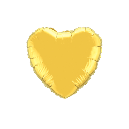 Tiny Foil Heart Balloon, Gold