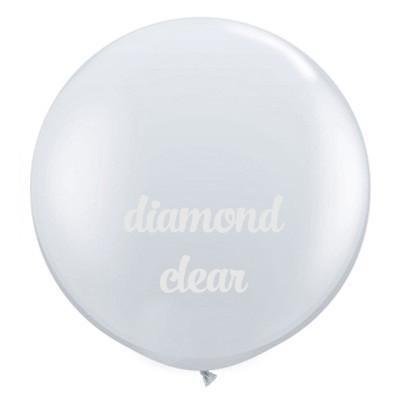 "36"" Round Balloon: Diamond Clear available at Shop Sweet Lulu"