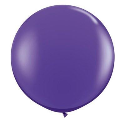 "36"" Round Balloon: Dark Quartz Purple available at Shop Sweet Lulu"