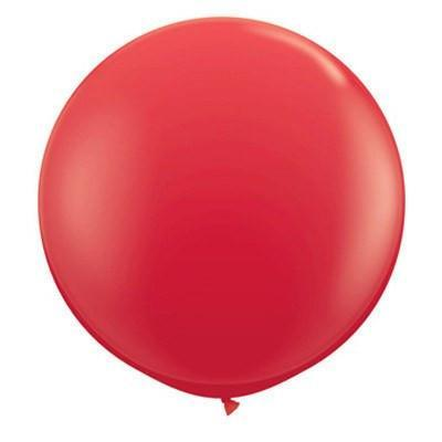 "36"" Round Balloon: Candy Apple Red"
