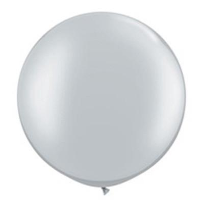 "30"" Round Balloon: Silver available at Shop Sweet Lulu"