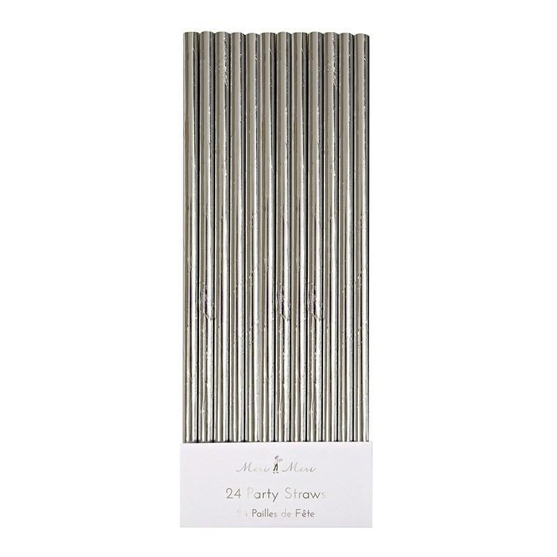 Silver Foil Party Straws available at Shop Sweet Lulu