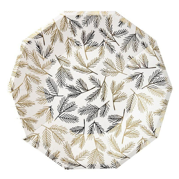 Gold Pine Pattern Large Plate available at Shop Sweet Lulu