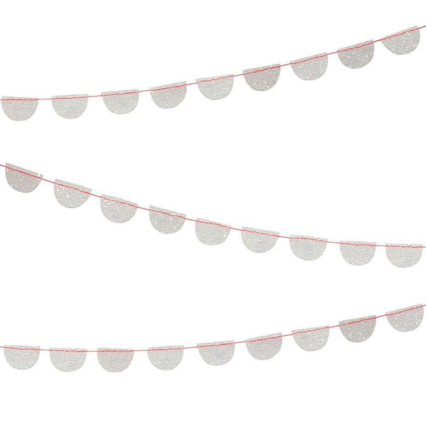 Mini Opalescent Glitter Scalloped Garland available at Shop Sweet Lulu