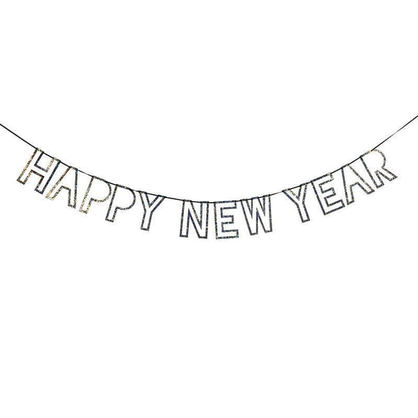 Silver Glitter Happy New Year Garland available at Shop Sweet Lulu