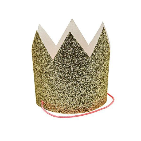 Mini Gold Glitter Crowns available at Shop Sweet Lulu