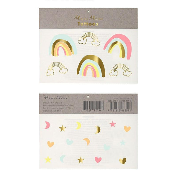 Neon Rainbow Tattoos available at Shop Sweet Lulu