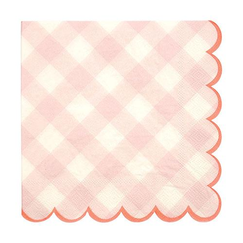 Pink Gingham Large Napkins available at Shop Sweet Lulu
