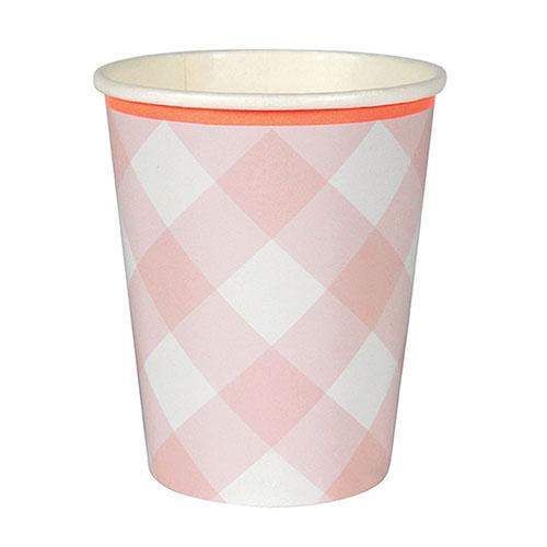 Pink Gingham Cups available at Shop Sweet Lulu