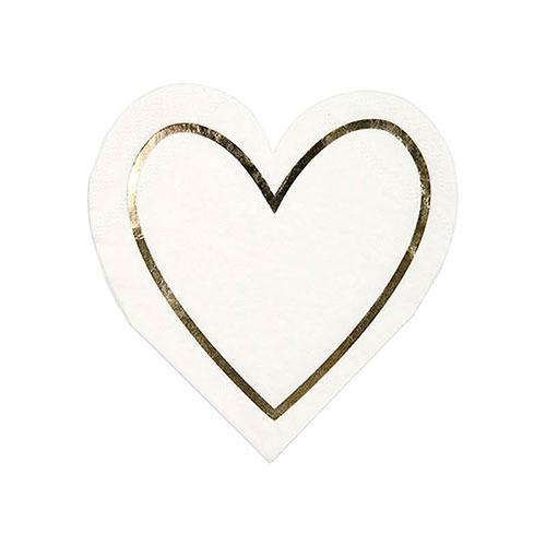 Gold Heart Outline Napkins available at Shop Sweet Lulu