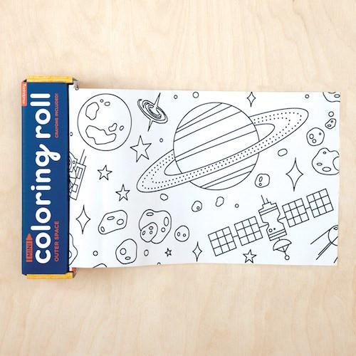 Outer Space Mini Coloring Roll available at Shop Sweet Lulu