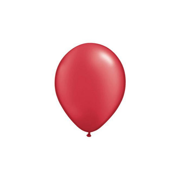 "5"" Latex Balloon, Pearl Ruby Red available at Shop Sweet Lulu"
