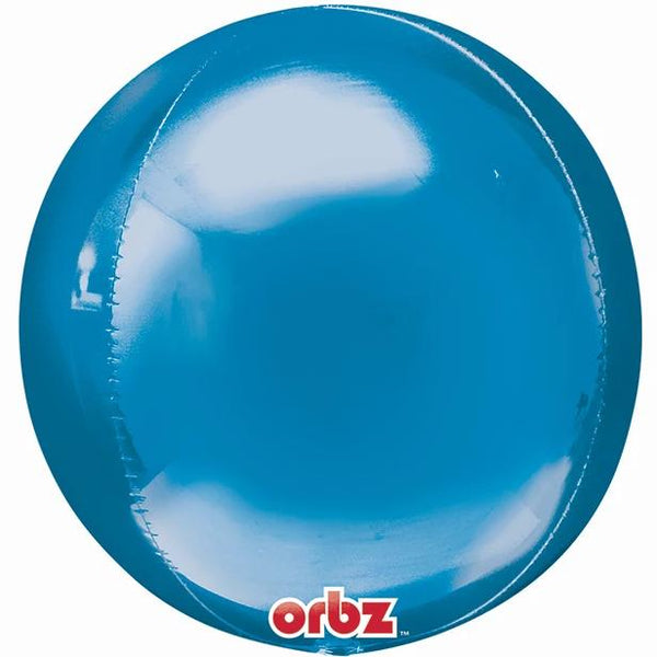"16"" Blue Mylar Balloon Orbz"
