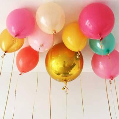 "16"" Gold Mylar Balloon Orbz available at Shop Sweet Lulu"