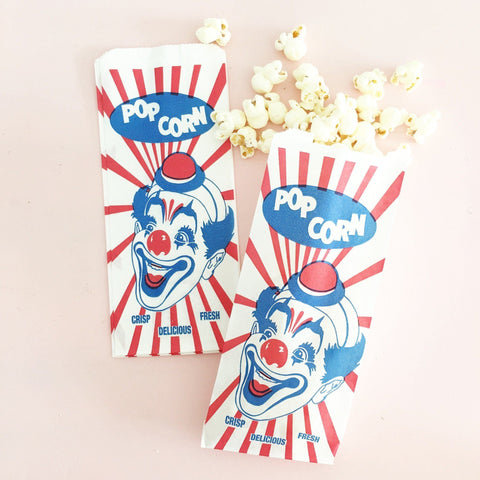 Retro Popcorn Bags - Clown