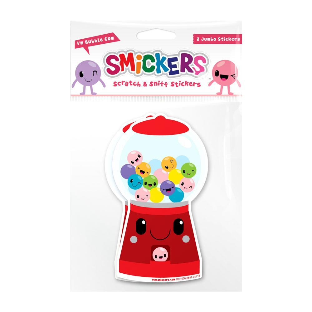 Jumbo Smickers - Bubble Gum Scented Stickers