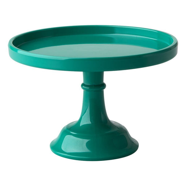 Melamine Cake Stand with Stem - Dark Green - XSmall available at Shop Sweet Lulu