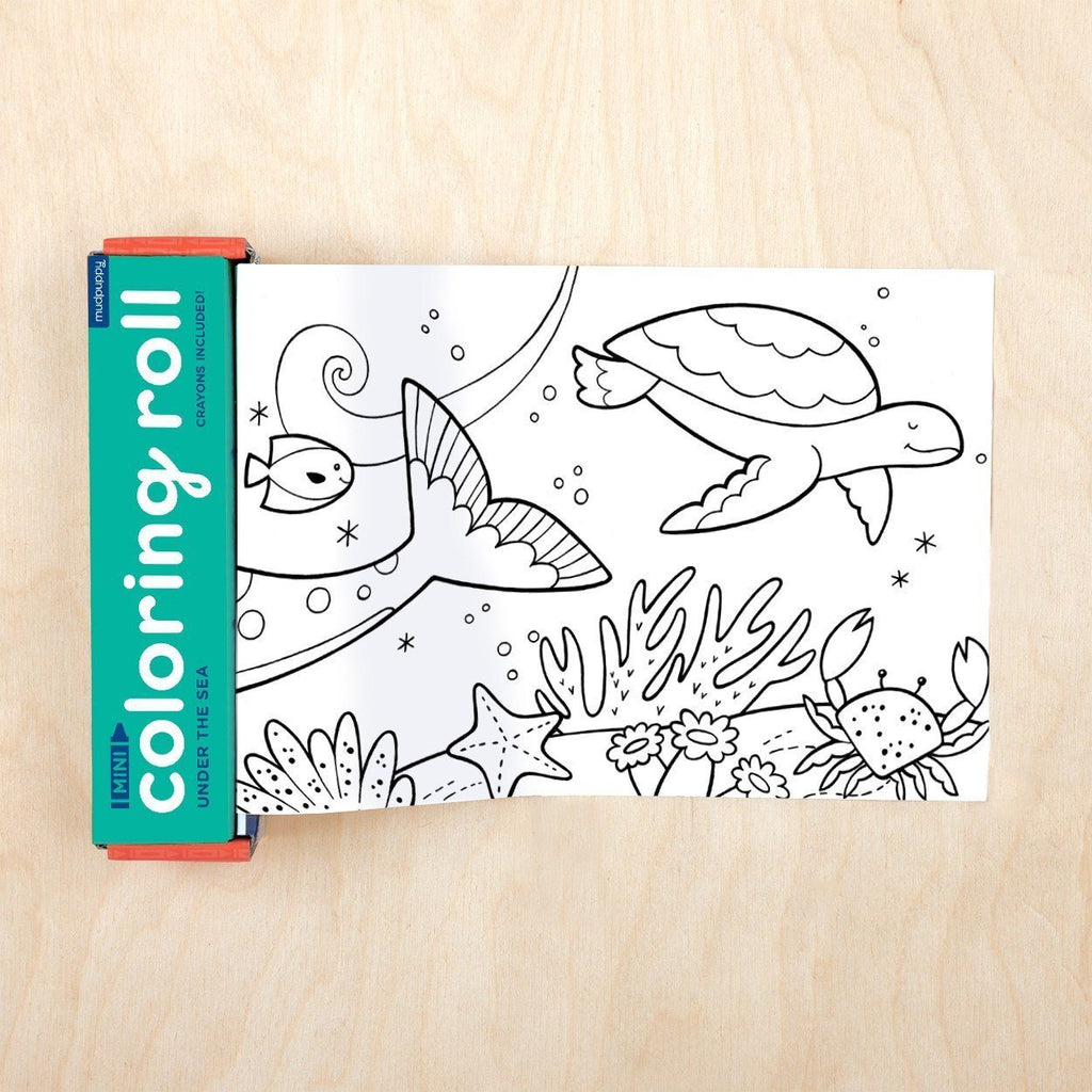 Under the Sea Mini Coloring Roll available at Shop Sweet Lulu