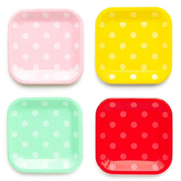 "9"" Polka Dot Plate Set"