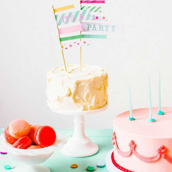'It's a Party' Cake Topper available at Shop Sweet Lulu