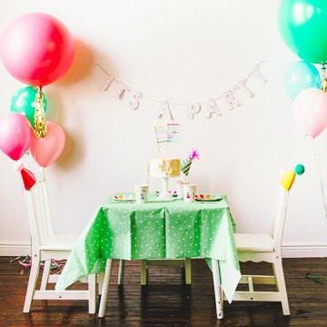 'It's a Party' Dotty Tablecloth available at Shop Sweet Lulu