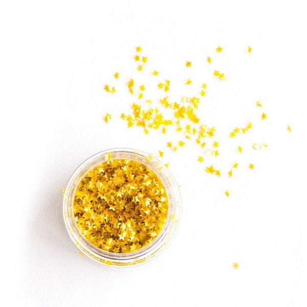 Edible Gold Metallic Star Sprinkles available at Shop Sweet Lulu