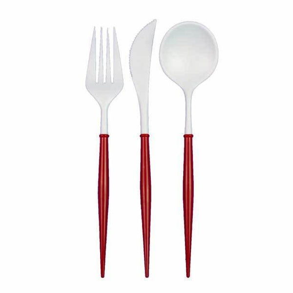 White and Red Bella Utensils