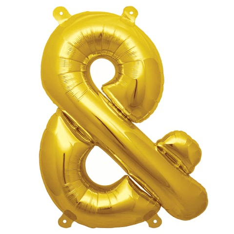 "13.5"" Gold Foil Ampersand Balloon"