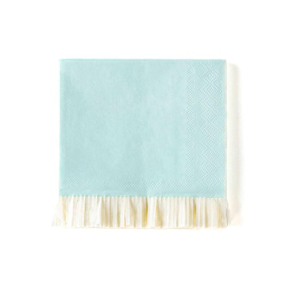 Baby Blue Fringed Cocktail Napkins