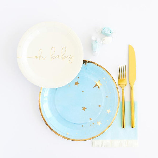 Baby Blue Star Plates