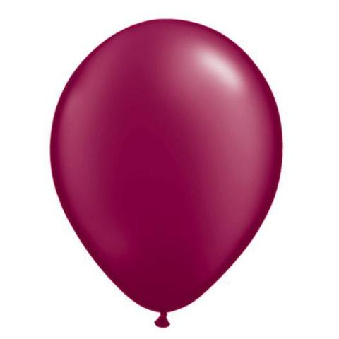 "11"" Latex Balloon, Burgundy Pearl"