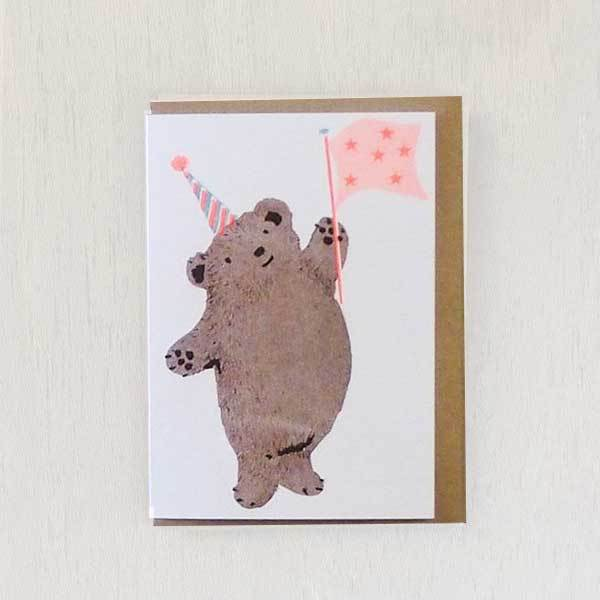 Party Bear Riso Pets Card