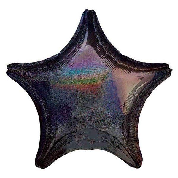 "21"" Black Holographic Foil Star Balloon available at Shop Sweet Lulu"