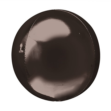 "16"" Black Mylar Balloon Orbz"
