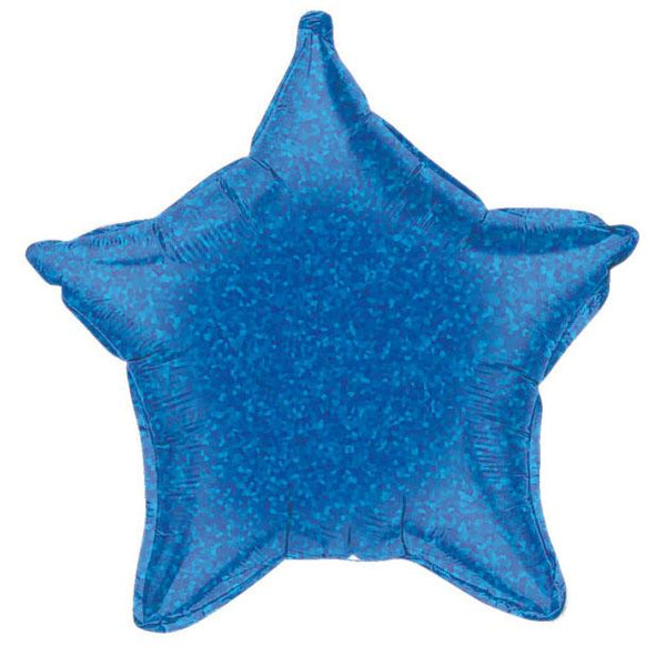 "21"" Blue Holographic Foil Star Balloon available at Shop Sweet Lulu"