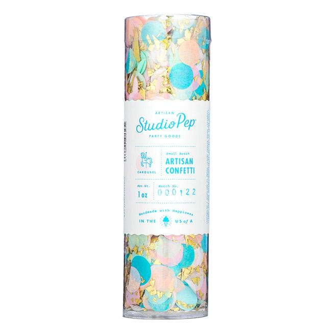 Artisan Confetti Tube, Carousel Collection