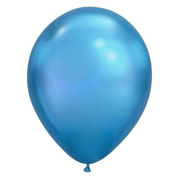 "11"" Latex Balloon, Chrome Blue"