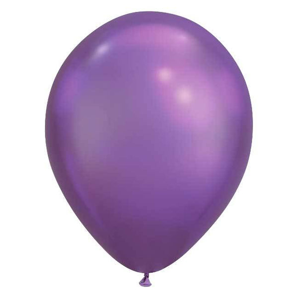 "11"" Latex Balloon, Chrome Purple"
