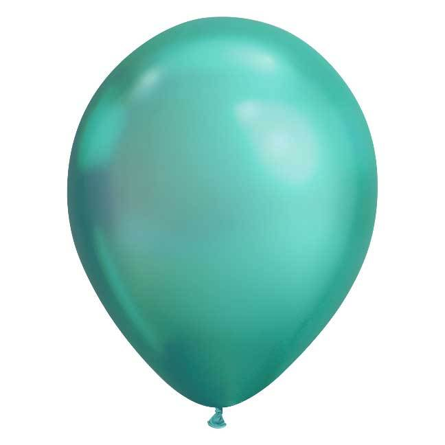 "11"" Latex Balloon, Chrome Green"